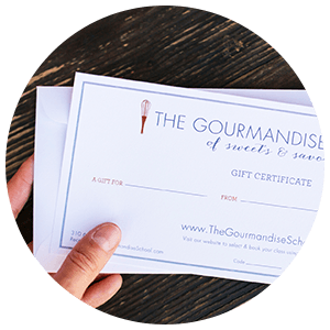gourmandise gift certificates