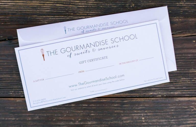 gourmandise gift certificate